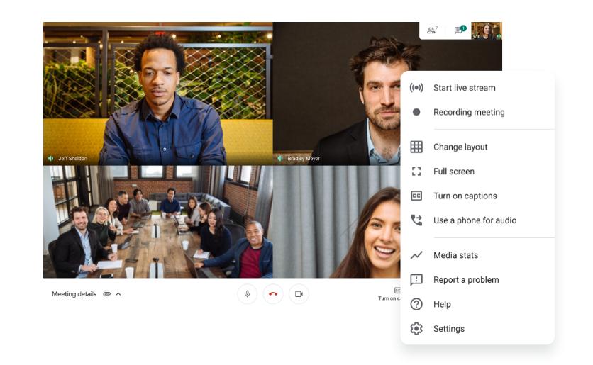 google-meet-ozellikler