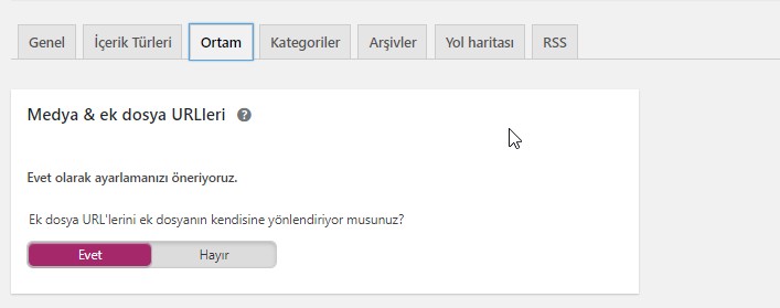 Yoast SEO Ayarları Search Appearance Media