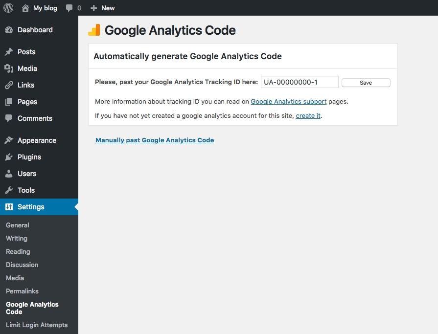 Google Analytics kodu ekleme