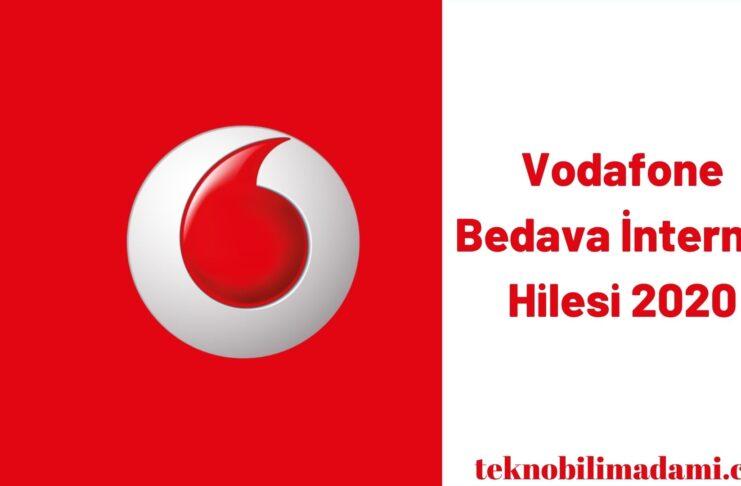Vodafone Bedava İnternet Hilesi 2020