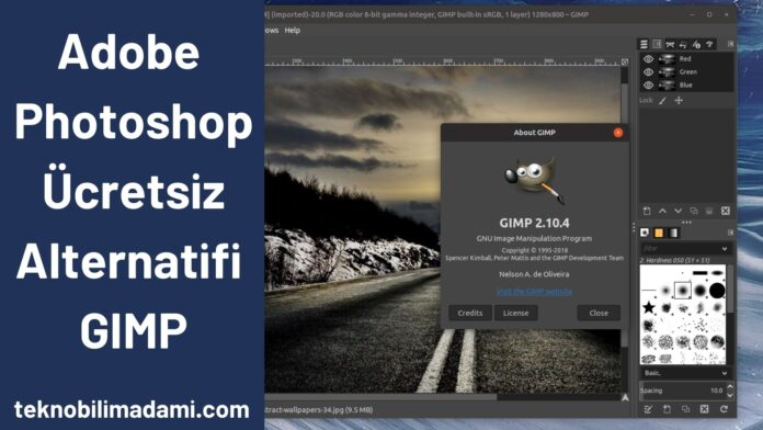 Adobe Photoshop Ücretsiz Alternatifi GIMP