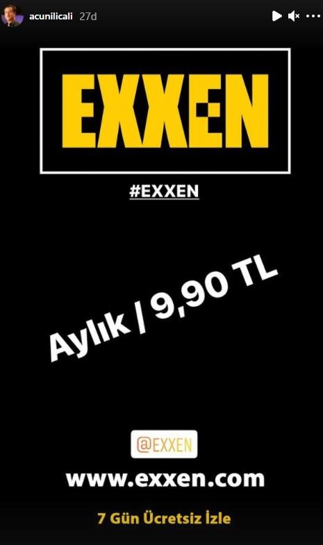 Exxen platformunun üyelik fiyatı ne kadar? İşte Acun Ilıcalı açıklaması!