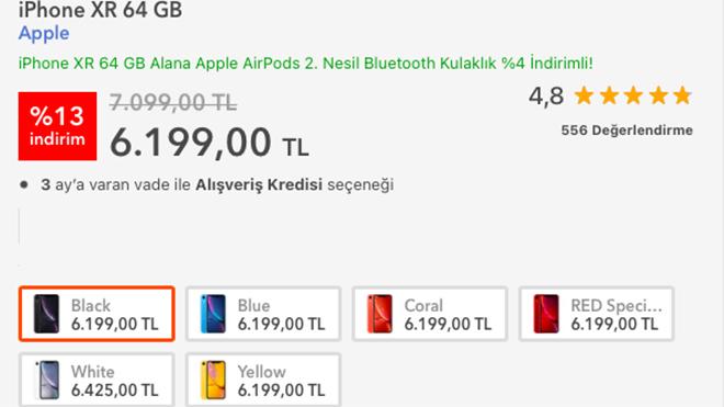 iPhone XR fiyatına 900 TL indirim geldi!
