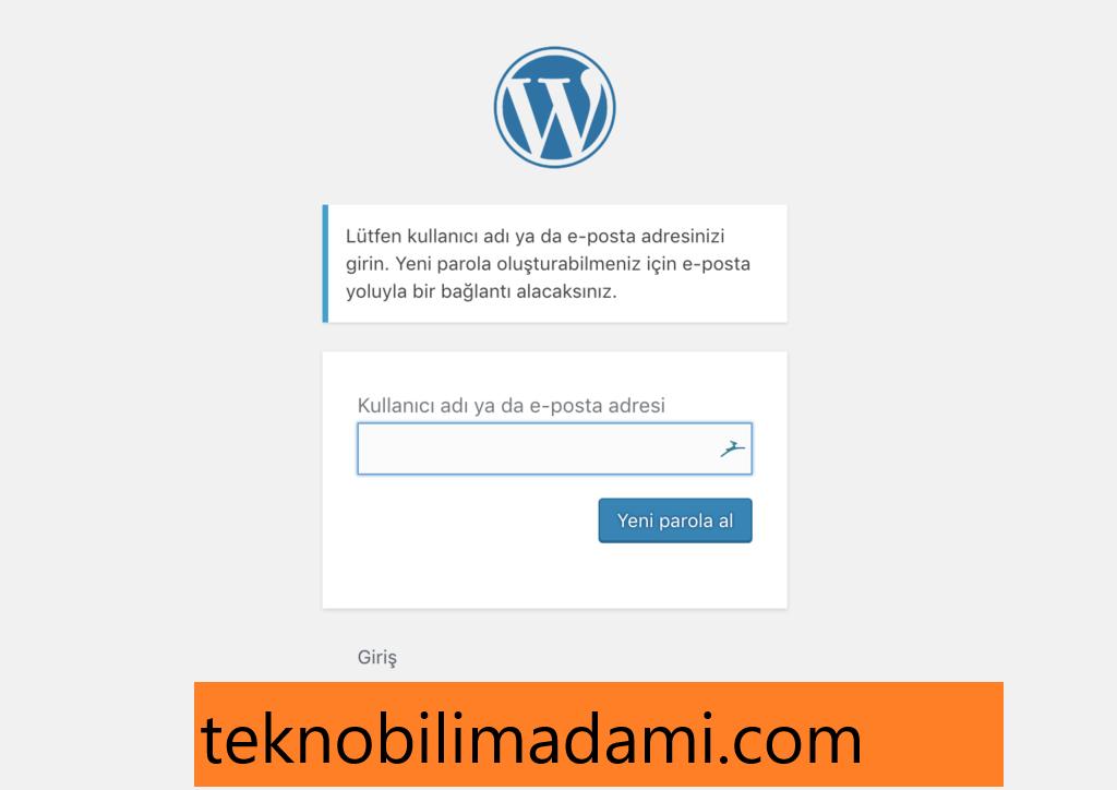 Wordpress şifre değiştirme ve sıfırlama nasıl yapılır?