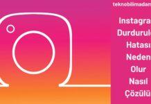 Instagram Durduruldu Hatası Neden Olur Nasıl Çözülür