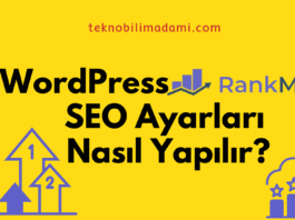 WordPress RankMath SEO ayarlar